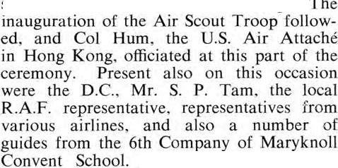 Air Scout Inauguration